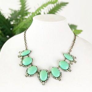 J Crew Turquoise Jeweled Cabochon Bubble Necklace